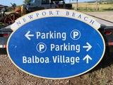 Newport Beach Directional Sign, 72