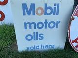 Mobil Motor Oils Sold Here Sign, 36