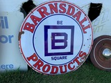Barnsdall Products Round Sign, Porcelain, 47
