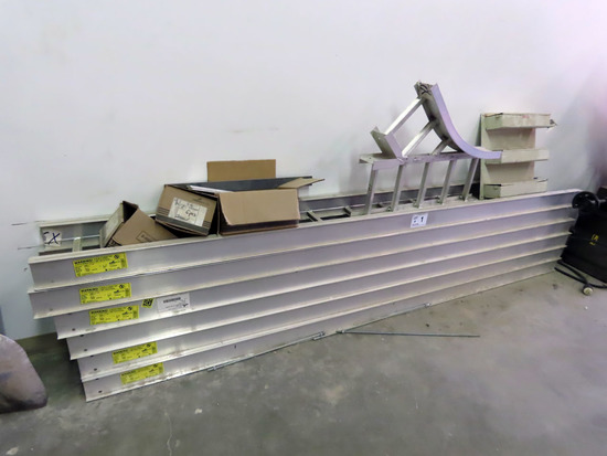 """Cooper """"B-Line"""" Heavy Duty Aluminum Cable Tray, (5) 10' Sections, (1) 45 Degree Y Connector (Like Ne"""