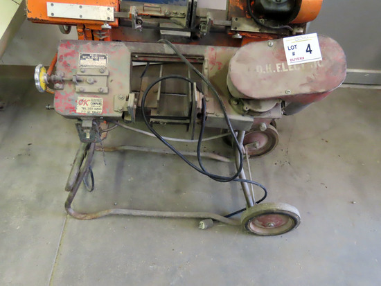 Wells Model 300 Small Horizontal Steel Band Saw on Cart.