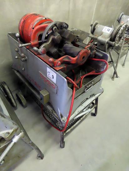Ridgid Model 850 Portable Electric Pipe Threader on Cart, SN# 53, 2-Wheel Cart, Pipe Cutter & Reamer