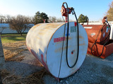 1,000 Gallon Steel Fuel Tank with Legs & Tuthill Fill-Rite Model FR700V 20g