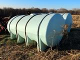 (2) 2,550 Gallon Heavy Duty Poly Water Tanks with Legs & Heavy Duty Banjo V