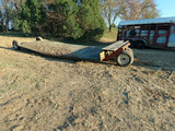 24' Flatbed Hay Trailer with 2 Front Dolly Wheels.
