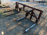 Heavy Duty 3-Point (2) Round Bale Carrier.
