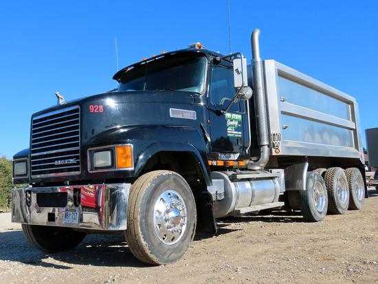 2010 Mack Model CHU613 Pinnacle Triple Axle Dump Truck, VIN #1M2AN07C6AM006803, MP8 Turbo Diesel Eng