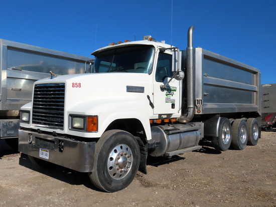 2010 Mack Model CHU613 Pinnacle Triple Axle Dump Truck, VIN #1M2AN07C8AM006804, MP8 Turbo Diesel Eng