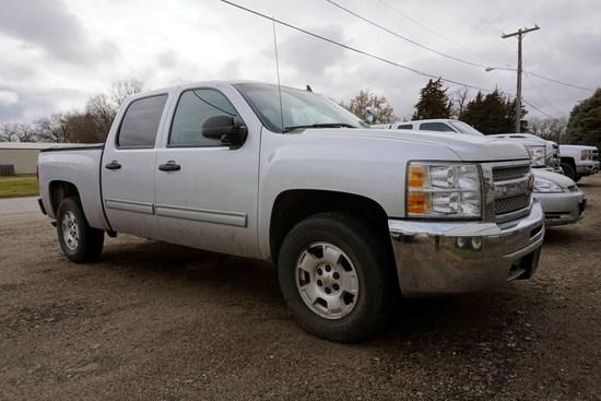 2012 Chevrolet Silverado Crew Cab 4x4 Pickup, VIN# 3GCPKSE74CG250531, 158,175 Miles, Vortec 5.3L Gas