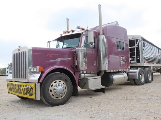 2006 Peterbilt Model 379 Extended Hood Conventional Truck Tractor, VIN #1XP-5DB9X-5-6D890856, Caterp