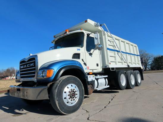 2003 Mack Model CV713 Granite Triple Axle Dump Truck, VIN# 1M2AG11C53M006710, Mack EM7-460 Turbo