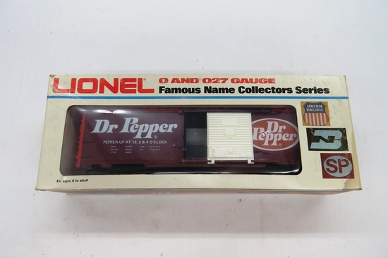 Lionel O & O27 Gauge Famous Name Collector Series - Dr. Pepper Box Car, Ite