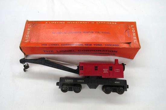 Lionel Operating Crane Car, Item #6560-25 in Original Box.