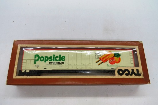 Tyco HO Scale Popsicle Reefer Car 62', #360F in Original Box.