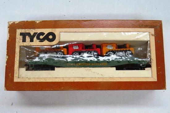 Tyco HO Scale Western Maryland Car, #Unknown in Original Box.