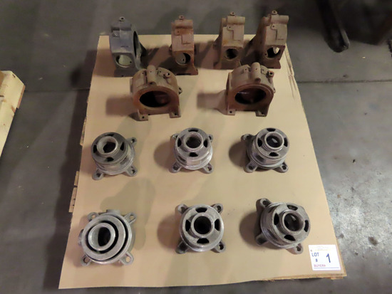Pallet of (6) Anhydrous Cooling Tower Parts & (6) Pump Housings.