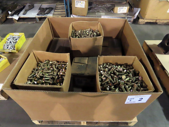 """Pallet of (8) Boxes of 475 1/2"""" Hex Cap Bolts, Grade 5."""