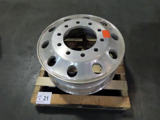 (1) Aluminum 12.25 x 22.5 Wheel, 3.88 Outset.