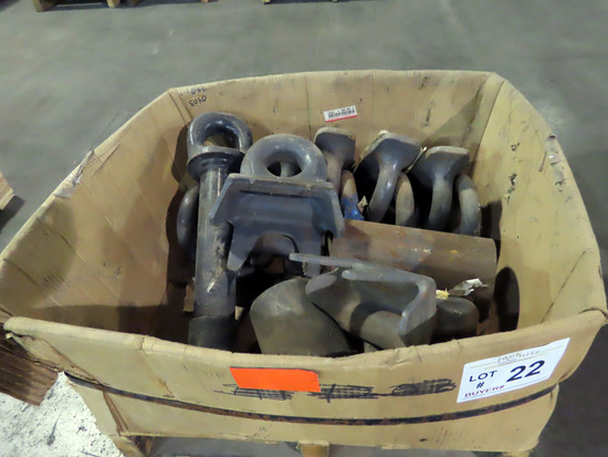 Pallet of Safety Cable D-Rings.