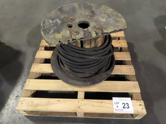 Partial Spool of Wire Cable.