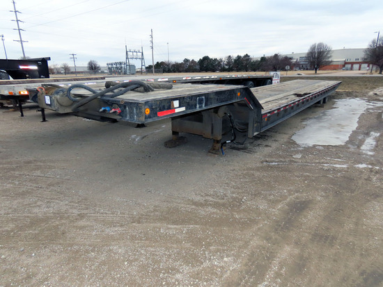 1999 Wallace 54' Tandem Axle Hydraulic Tilt Deck Drop Deck Lowboy Trailer,