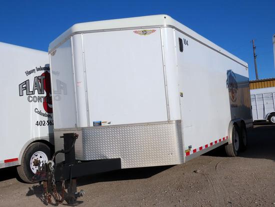 2014 H & H Model FD-306 20' Tandem Axle All Aluminum Enclosed Trailer, VIN#