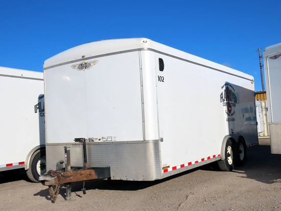 2002 H & H Model FD-306 20' Tandem Axle All Aluminum Enclosed Trailer, VIN#