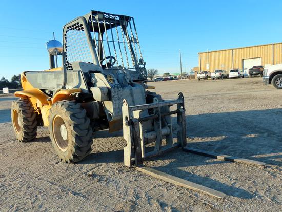 JCB Loadall Model 520 RT Forklift, SN#1411215, Perkins 4-Cylinder Diesel En