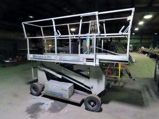Strato-Lift Model KRX-20 Scissor Lift, 414 Hours on Tach, SN# 6773, 750lb.