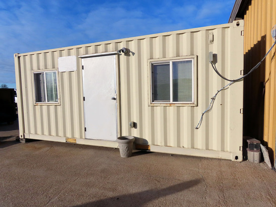 2007 8' X 20' Portable All-Steel Jobsite Office Container, Cargo Doors, Sid