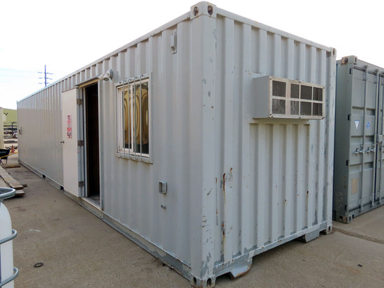 2007 8' x 40' Portable All-Steel Jobsite Office/Storage Container, Cargo Do
