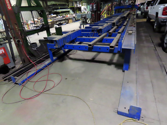 Kentex Dual Head I-Beam CNC Welder, Dual Lincoln Controls, Dual Head Welde
