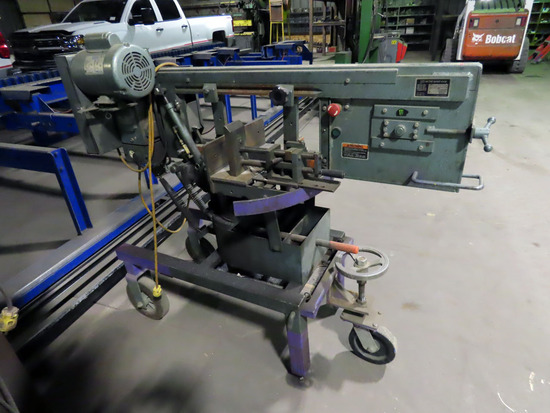 Ellis Model 1600 Horizontal Band Saw on Stand, SN# 16111480, Auto Stop, 3-W