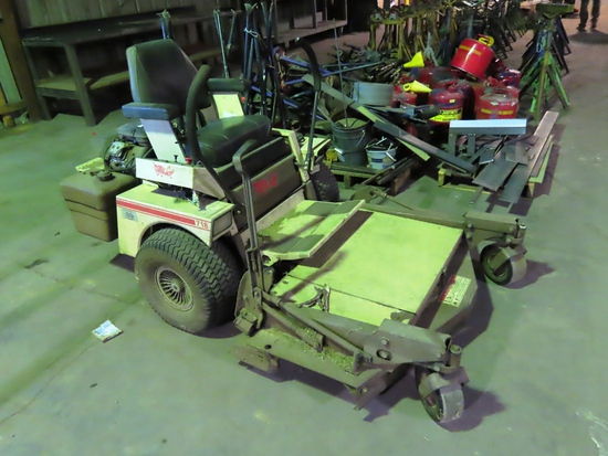 Grasshopper Model 718 Front Deck Zero Turn Mower, 1,289 Hours, Rear Dolly W