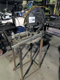 Hitachi Model CC14SF Bench Top Steel Chop Saw on Stand.