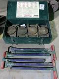 Hilman Heavy Duty Roller Set, 60-Ton Capacity, (4) Rollers, Heavy Duty Stee