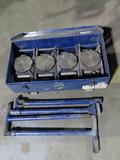 Equiprite HD Roller Set, (4) Rollers, Heavy Duty Steel Case.