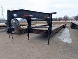 50' Tandem Axle Custom Built Gooseneck Flatbed Trailer, Steel Frame, Wood D
