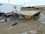 2019 Flat River 23' Tandem Axle Flatbed Tag Trailer, VIN#1F9PA400171FRC010,