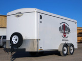 2008 H & H Model FD-306 16' Tandem Axle All Aluminum Enclosed Trailer, VIN#
