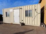 2007 8' X 20' Portable All-Steel Jobsite Office Container, Cargo Doors, Sid