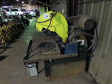 Industrial Radial Steel Chop Saw, 15HP 3-Phase Electric Motor, HD Stand.