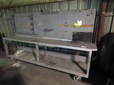 10' Heavy Duty Welding Table, Heavy Duty Steel Casters, Locking Cash Drawer