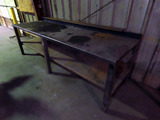 10' Heavy Duty Steel Welding Table, Lower Shelf.