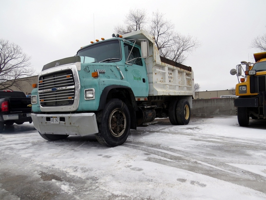 1984 Ford F-8000 Single Axle Dump Truck, VIN 1FTXR82A77PVA04133, 7.8 Liter Diesel Engine, 10-Speed