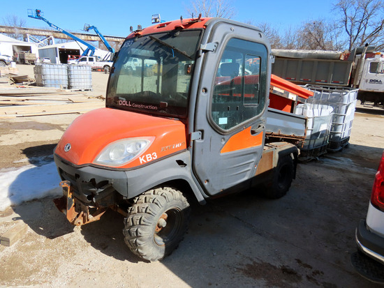 Kubota Model RTV1100 Diesel 4x4 UTV, VIN# A5KCHDALBG032133, Kubota Diesel Engine with Electric