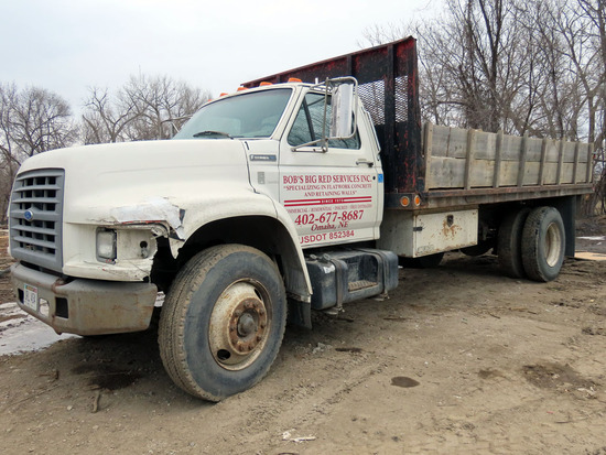 1996 Ford Model F-600 Single Axle Dump Truck, VIN# 1FDNF70J0TVA26333, 7.0 Liter V-8 Gas Engine, 5 &
