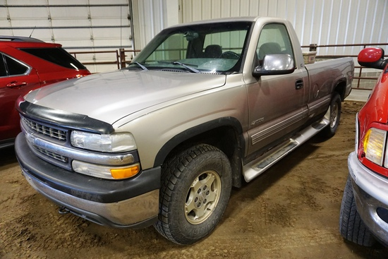2000 Chevrolet Model 1500 Silverado LS Pickup, 191,018 Miles, 5.3L V-8 Gas Engine, Automatic Transm