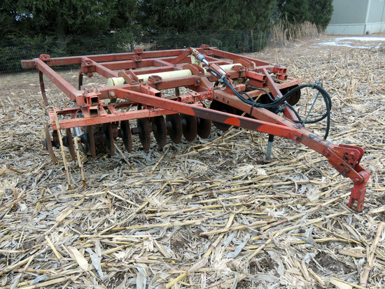 Krause Model 1071 Pull-Type Disc Chisel, SN# 3133, 12' Width, Front Disc Blades, Rear Chisels,