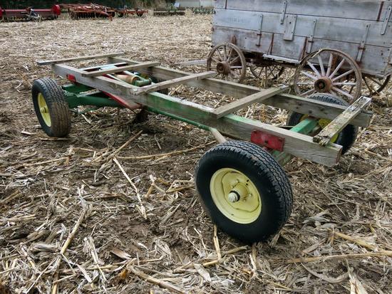 John Deere 953 4-Wheel Wagon Gear with Hoist.